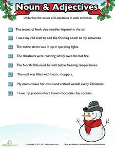 christmas nouns verbs adjectives twas the before christmas grammar proper nouns