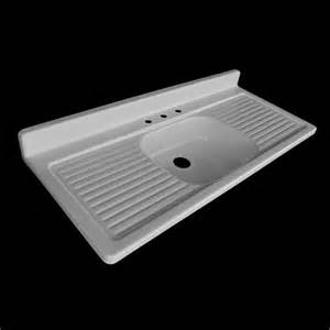 54 x 24 single bowl double drainboard farmhouse