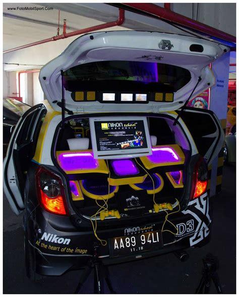 modifikasi mobil honda jazz full audio ceper terkeren