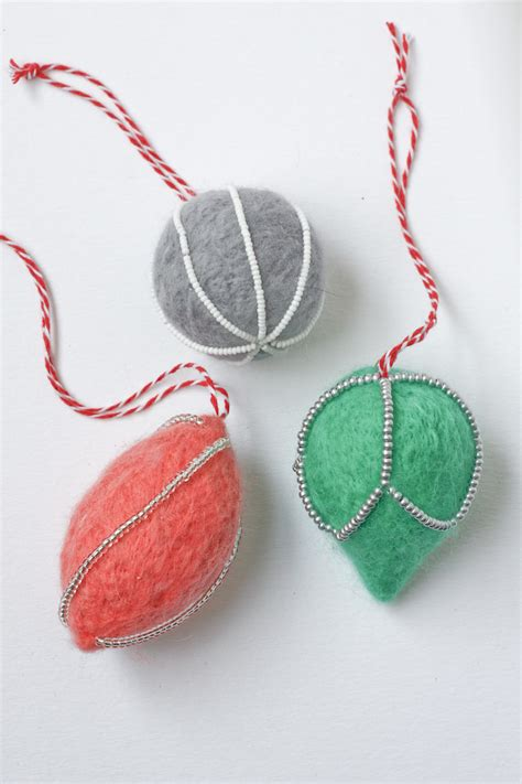 needle felt decorations diy tutorial