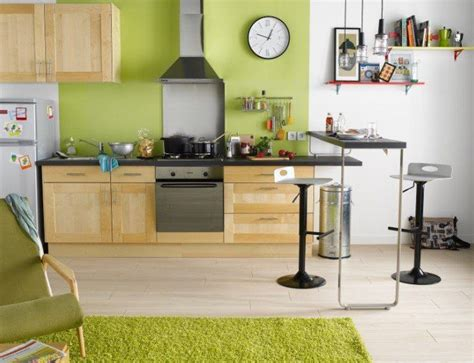 peinture verte cuisine idées peinture cuisine les tendances 2017 habitatpresto
