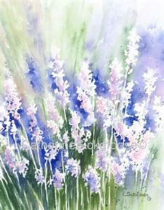 Lavender WATERCOLOR PAINTING fine art by CatherineSickafoose