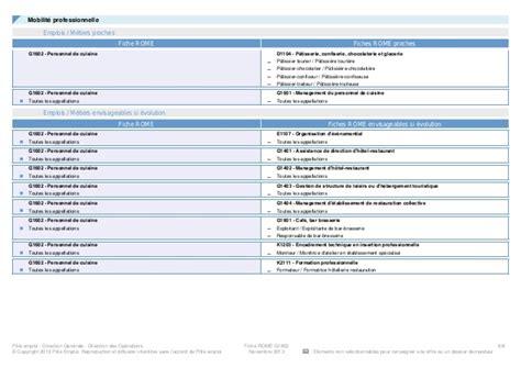 code rome commis de cuisine information metier hotellerie restauration personnel de cuisine h