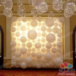Elegant Wedding Balloon Wall, wedding balloon backdrop ...