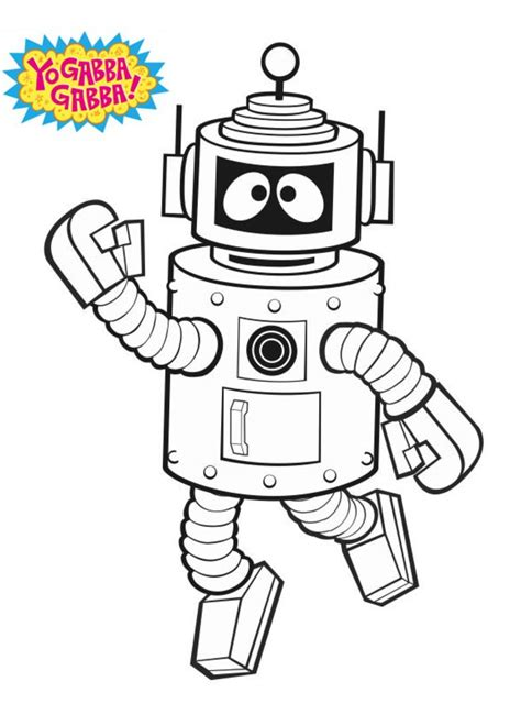 coloring pages yo gabba gabba printable  kids