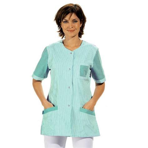 blouse de cuisine femme blouse tunique travail femme manche courte é couleur blanc