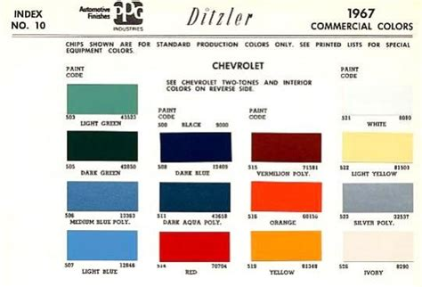 original paint color codes chevy love