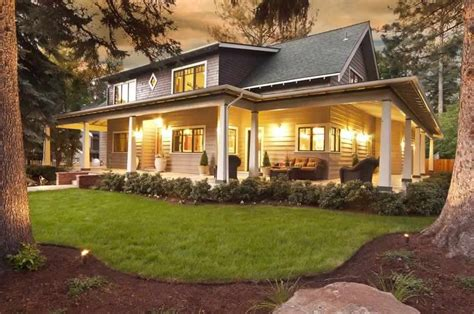 wrap around front porch landscaping ideas for wrap around porches homes in bend oregon create your home with homeland