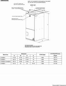 1 400 Cfm Output Diamondair Electric Furnace