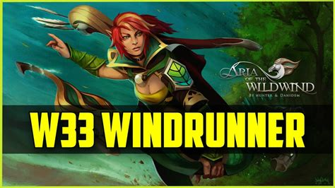 w33 windrunner 36kills rank 1 eu 7683mmr dota 2 gameplay