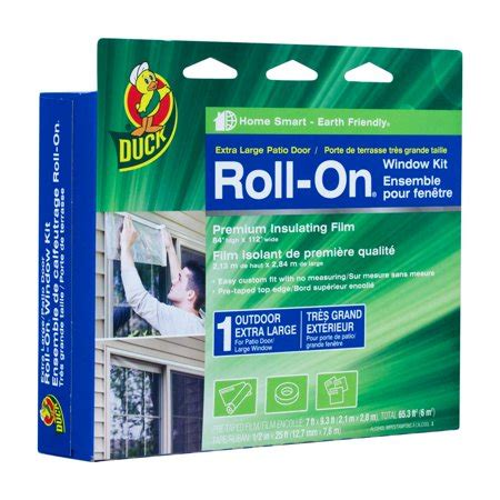 duck brand roll  outdoor window kit  extra large