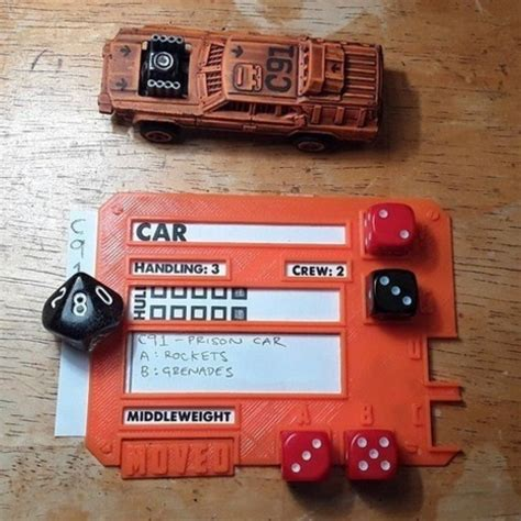 gaslands templates free 3d print files gaslands vehicle dice template cults