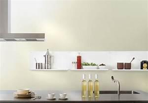 Etagere Cuisine Murale : tag re murale de cuisine le ot de 2 45x10 cm acier blanc ~ Teatrodelosmanantiales.com Idées de Décoration