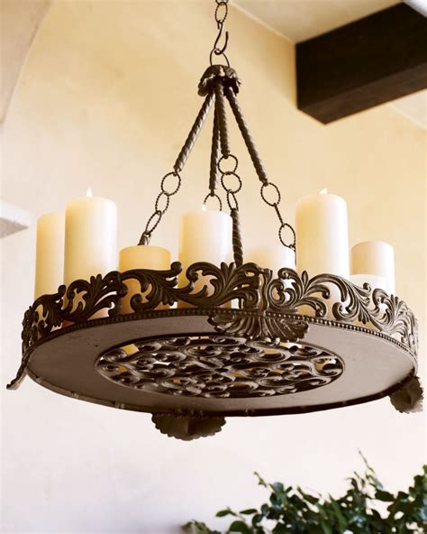 Outdoor Candle Chandeliers Wrought Iron  Decor Ideasdecor