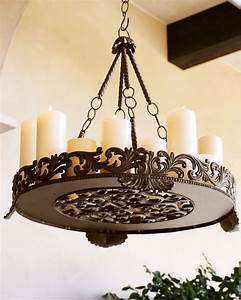 outdoor candle chandeliers wrought iron decor ideasdecor With kitchen cabinets lowes with outdoor wrought iron candle holders