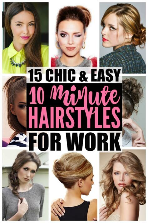 Hairstyles For Work: 15 Easy Hairstyles For Hectic Mornings