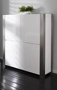 Meuble Haut Salon : vaisselier blanc laque ~ Teatrodelosmanantiales.com Idées de Décoration
