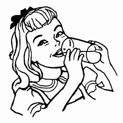 Drinking Milk Clip Drink Woman Illustrations Illustration
