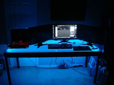 computer desk led lighting using an easy installation led