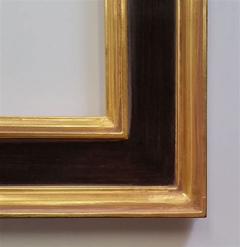 corner picture frames classic plein air closed corner frame gold leaf with black panel 2 5 8 quot wide ebay