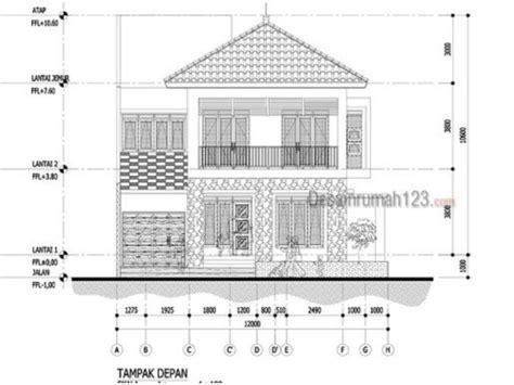 desain rumah hook     dua lantai gaya tropis