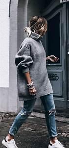 Pullover Trends 2017 : 40 off to work oversized sweater outfits buzz 2018 ~ Frokenaadalensverden.com Haus und Dekorationen