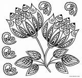 Flower Adults Coloring Pages Printable Cool2bkids Vase sketch template