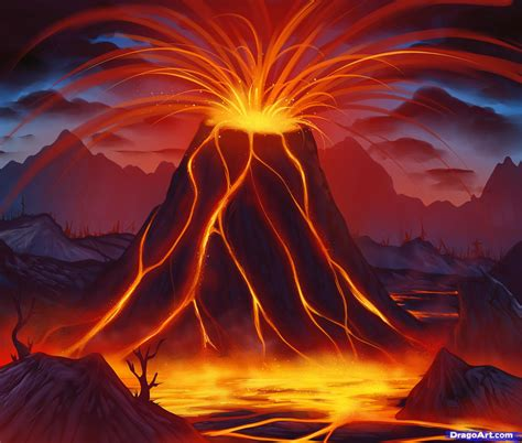How To Draw A Supervolcano Supervolcano Step By Step