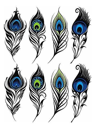 Peacock Waterslide Decal Decals Glass Eye Feathers