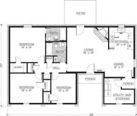 2 Bedroom Apartments Under 800 by 2 Bedroom House Plans 1000 Square Feet Home Plans