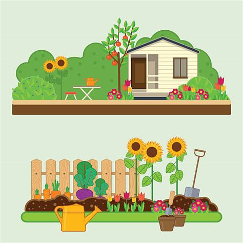 Royalty Free Vegetable Garden Clip Art, Vector Images