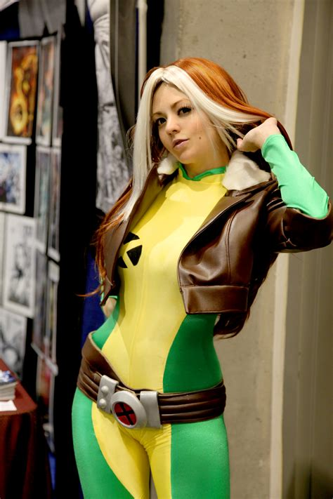 rogue costume cosplay angry week character alexandra month marvel xmen angryweb rouge costumes iv vol july dudeiwantthat courtney comicimpact
