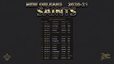 orleans saints wallpaper schedule