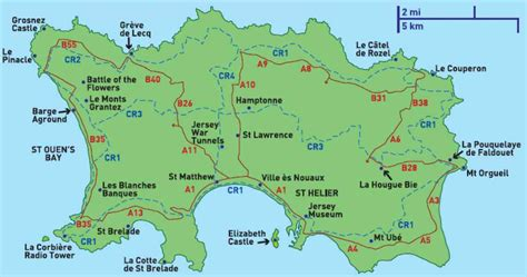 map  jersey channel islands holiday map