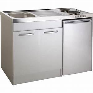Kitchenette Pour Bureau : kitchenette electrique gris aluminium spring x l ~ Premium-room.com Idées de Décoration