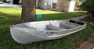 Nice Polished 14 U0026 39  Aluminum Jon Boat  Perfect For Florida