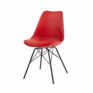 Chaise En Polypropylne Et Mtal Rouge Coventry Maisons