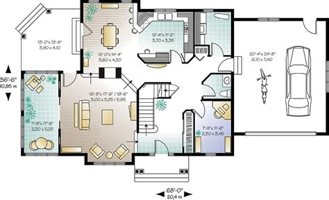 Small Open Concept House Floor Plans
