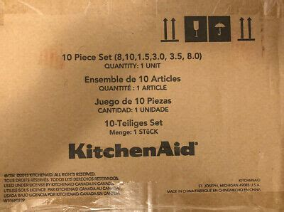 kitchenaid  ply stainless steel  piece cookware set  ebay