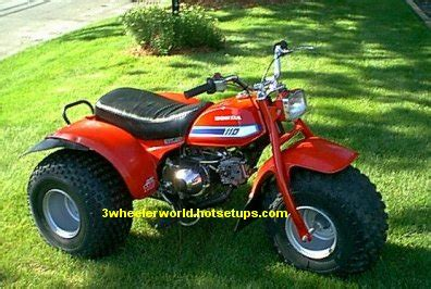 wheeler worlds honda atc  picture page