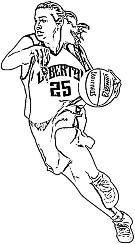 basketball player coloring sheet coloring pages