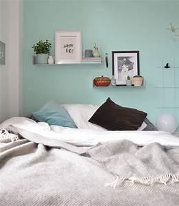 Wandfarbe Mint im Schlafzimmer annablogie