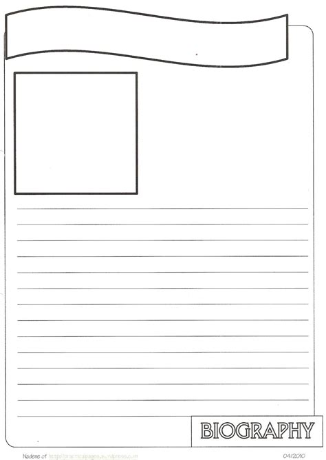 biography notebook page templates projects