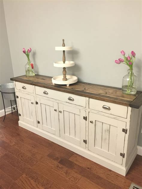 white buffet table with wood top sideboards glamorous rustic buffet sideboard rustic
