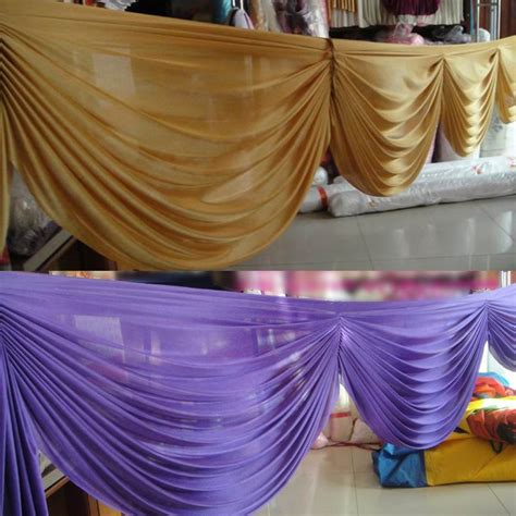 6 meter gold color detachable swags for decoration wedding