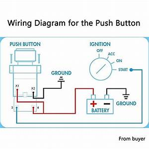 Wiring Diagram 4 1start Push Carbon Fiber Panel Button Car Ignition Engine Racing Toggle Switch