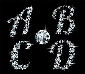 shiny diamond letters vector material 01 polices fonts With shiny diamond alphabet letters