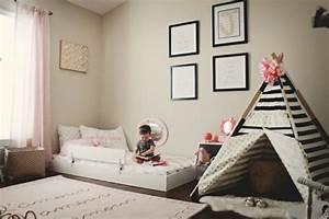 Tipi Petite Fille : 1001 id es pour am nager une chambre montessori ~ Teatrodelosmanantiales.com Idées de Décoration