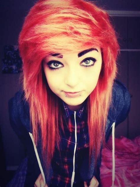 Orange Emo Hair Pale Hair On Tumblr Emoscene Hair