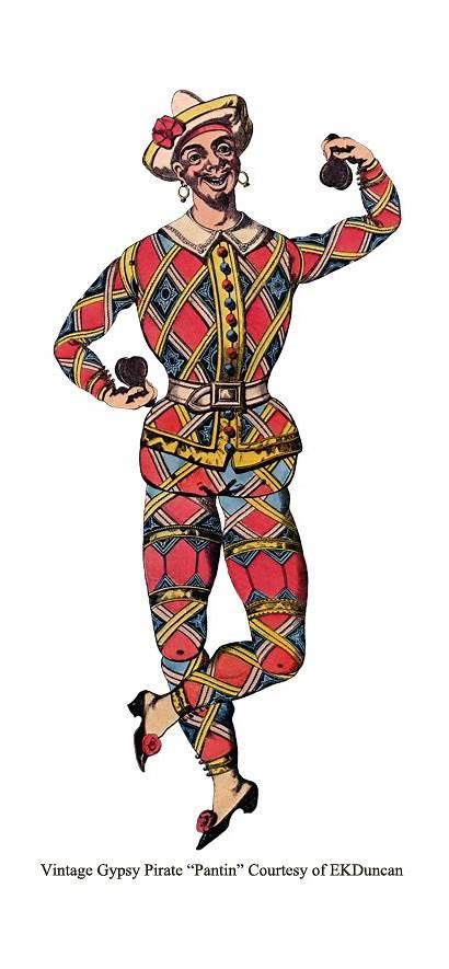 Pirate Gypsy Scottish Paper Dolls Lass Pantin